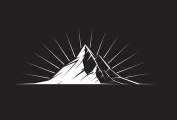 Mountain Peak by night
