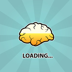 Brain is loading, concept of idea
