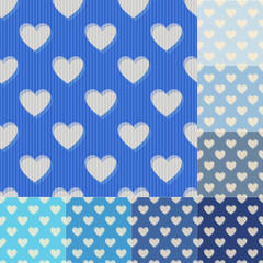 seamless aqua and blue heart background pattern