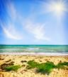 Leinwandbild Motiv Sea in Crimea, sea and blue  sky
