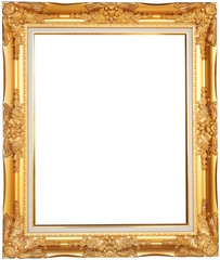 Golden, luxurious picture frame