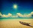 Leinwandbild Motiv grunge beach
