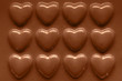 Rows of Chocolate hearts