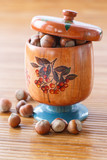 hazelnut brown in wooden pot