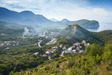 Montenegro. Adriatic Sea coastal mountain landscape
