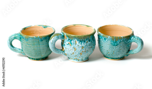 ceramic cups in glaze