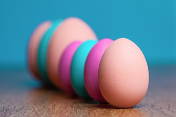 Colored eggs.  Holiday. tradition