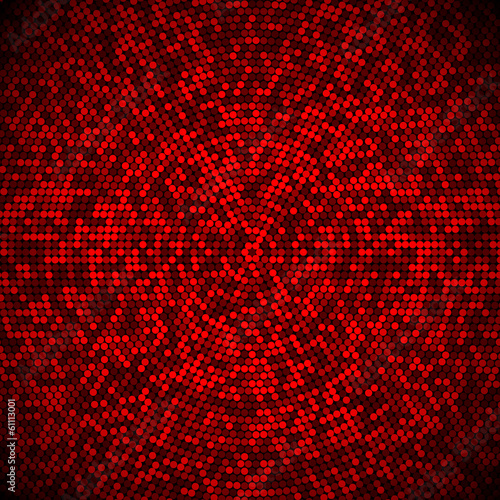 Abstract fractal background of shades of red