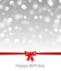 Karte Schleife Happy Birthday