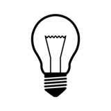 Light bulb icon - vector
