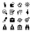 flat business iconset in black with reflex 2