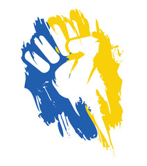 Ukraine protest movement fist graffiti symbol illustration
