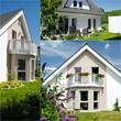 modernes Eigenheim - Collage