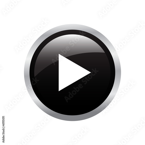 Glossy Play Button - vector