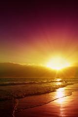 Beautiful Caribbean sunset.