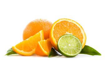 Orangen und Limetten