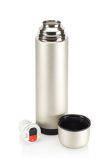 Grained pattern steel thermos