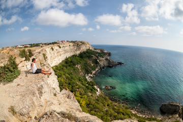 Scenic views of the sea from the cliff