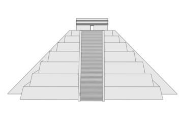 cartoon image of mexican pyramide