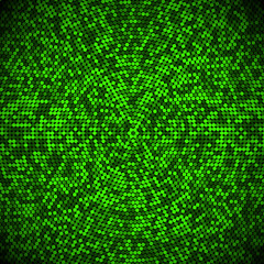 Abstract fractal background of shades of green