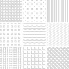 set of 9 grey seamless patterns