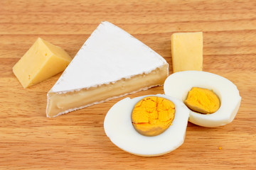 Bread, cheese and eggs - dairy products