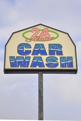 24 Hours car wash signage