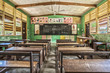 Leinwanddruck Bild - Classroom in Ghana, West Africa