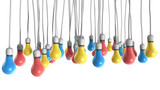 Color Hanging Light Bulbs