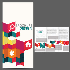 Geometric Brochure Layout Design