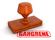 Rubber Stamp gangrene  (clipping path included)