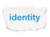 Privacy concept: Identity on Paper background