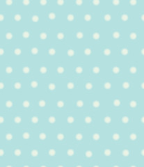 Vector polka dots seamless pattern, blurred effect.