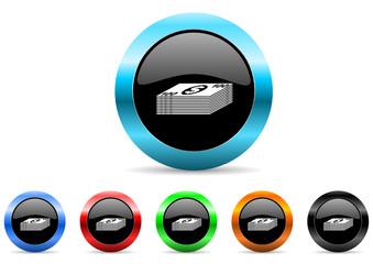 money icon vector set