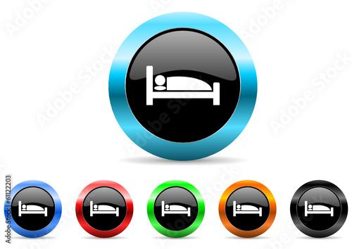 hotel icon vector set