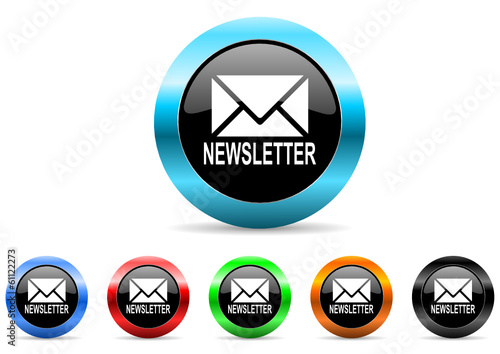 newsletter icon vector set
