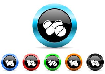 medicine icon vector set