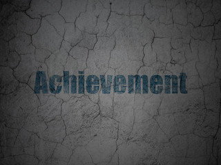 Education concept: Achievement on grunge wall background