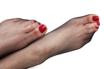 feet in black stockings