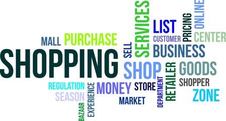 word cloud - shopping