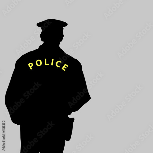 policeman silhouette vector illustration