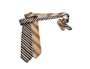 Striped ties curved at right angles