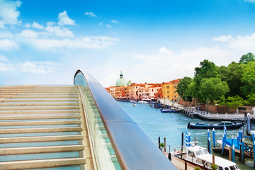 Constitution bridge in Venice