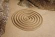 Zen Spirale an Felsen