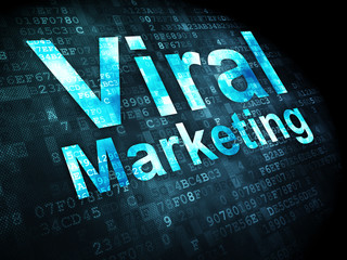 Advertising concept: Viral Marketing on digital background