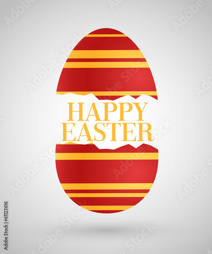 Happy Easter background with egg.