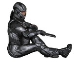 Female Science Fiction Soldier - Sitting