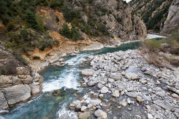 Rio Ara in Aragon Pyrenees