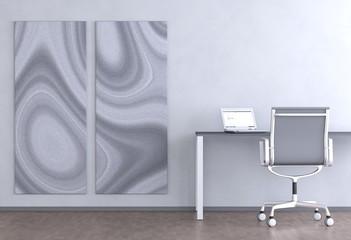 Graues Büro