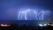 lightning hits